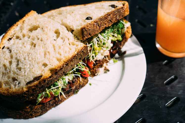 bread food salad sandwich